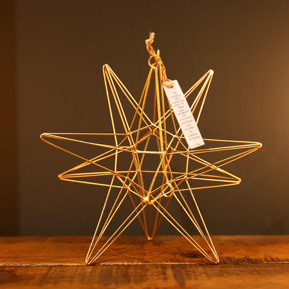 "Wire Ornament Starry ""M"""