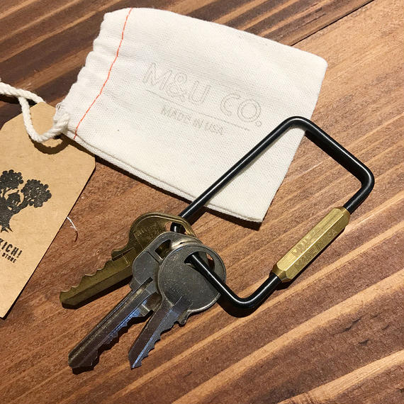 RECTANGLE KEY RING - BLACK OXIDE