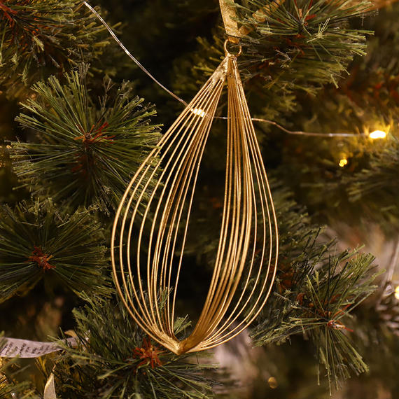 Wire Ornament Teardrop