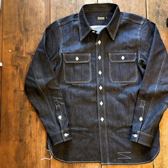 Dapper's(ダッパーズ)/ Standard Chinstrap Work Denim Shirts LOT1203
