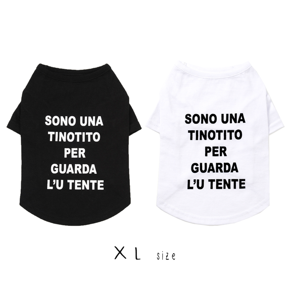 XL シンプルロゴTシャツ(White/Black) TT101006-3