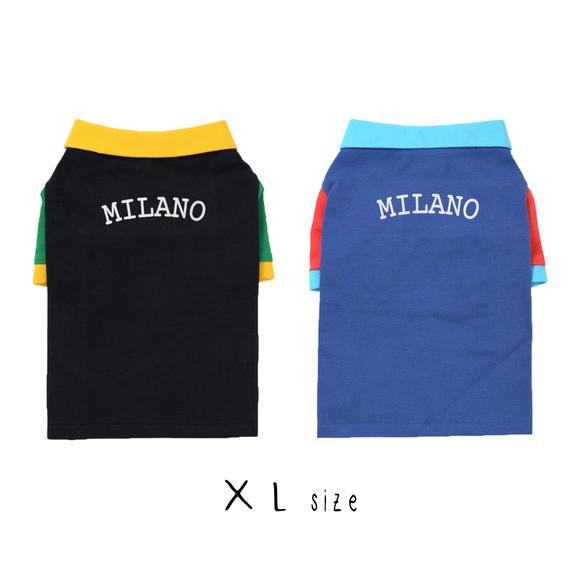 XL ポロシャツ(Black/Blue) TT102009-3