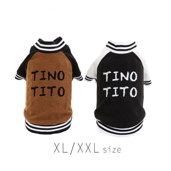 XL-XXL スタジアムジャンパー (Brown / Black) TT102034-3