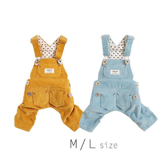 M-L コーデュロイサロペット (Yellow / Blue) TT103028-2