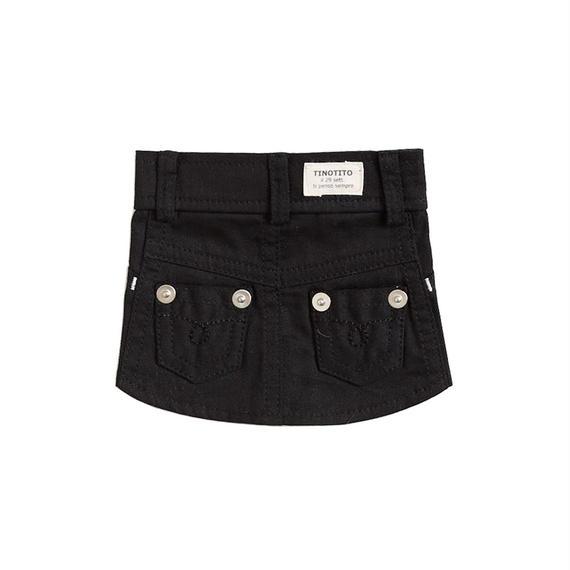 XS-S カラーデニムスカート (Black) TT104029-1