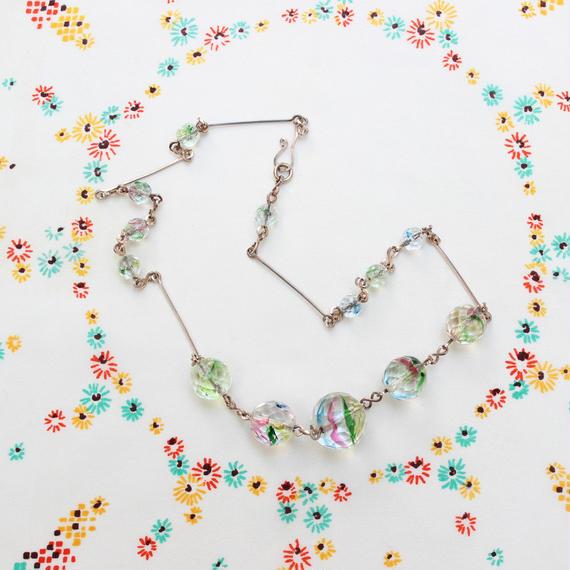 アイリスガラスのネックレス*c