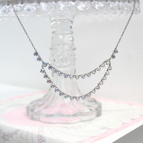 アイリスガラスのネックレス*a
