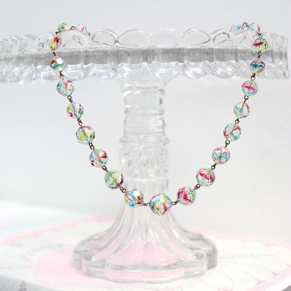 アイリスガラスのネックレス*b