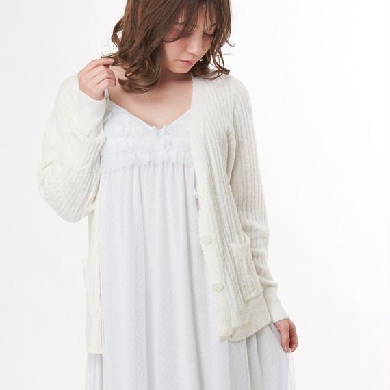 【ホイップモールケーブルカーディガン】P91458-743
