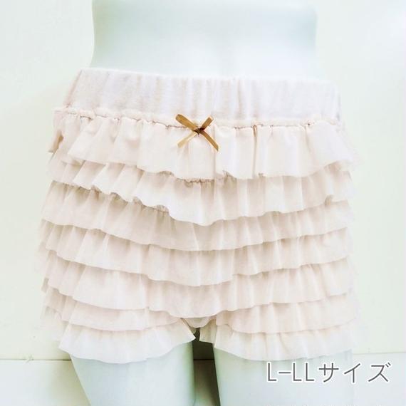 【スモーキーカラーゆったりチュールペチパンツL-LL】P91263 -200