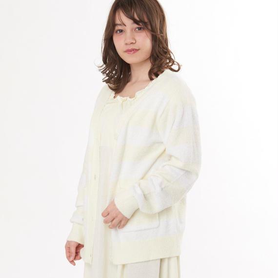 【ホイップモールボーダーカーディガン】P91538-742