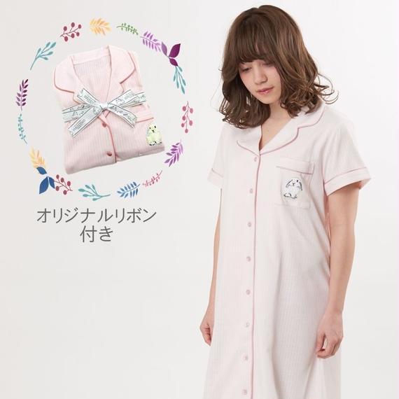【ラビット刺繍シャツワンピース】P91530-752