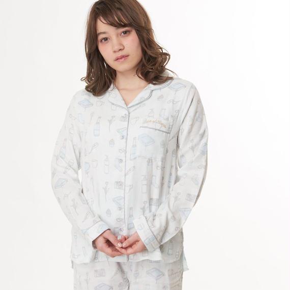 【綿100%トリプルガーゼシャツ上下セット】P91467-741