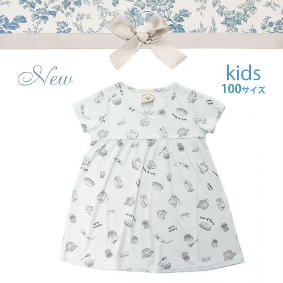 KIDS【クッキングレシピワンピース100cm】P91525-532