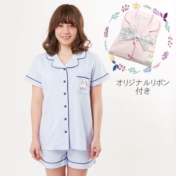 【ラビット刺繍 上下セット】P91531-752