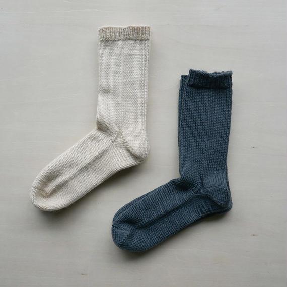 手編みの靴下/wool