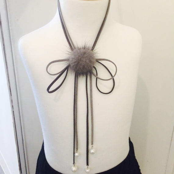 ribbon perl choker