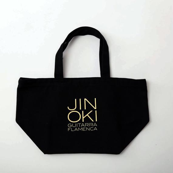 """沖仁""""JIN OKI ランチトートバッグ""""(ブラック×オフホワイト)"""