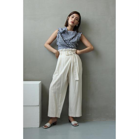 Gingham Design Sleeveless Shirt (tp255)