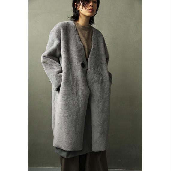 Ring Belt Mouton Coat (ot063)