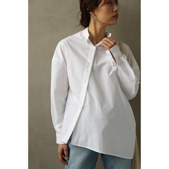 Diagonal Button White Shirt (tp241)