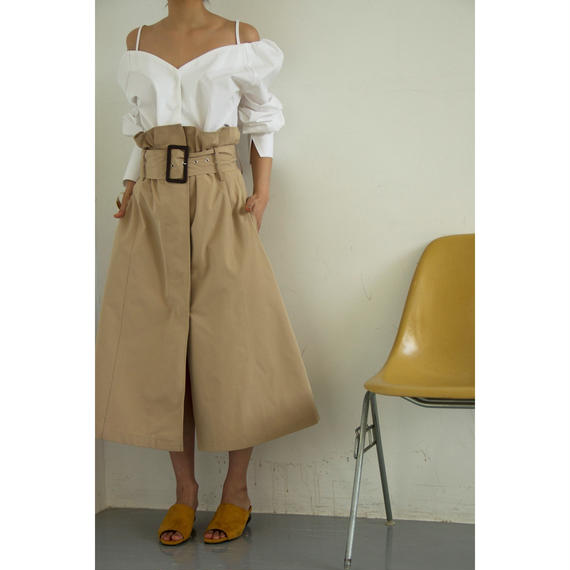 High Waist Belt A Line Skirt (bt170)