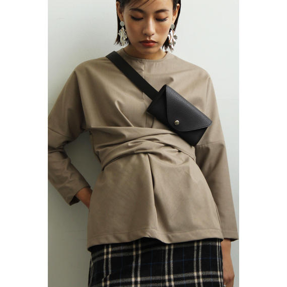 Belted Pouch (Black/Dark Brown/Camel/Khaki)(ac066)
