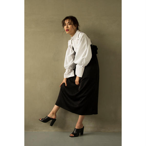 Swallowtail Mao Collar Shirt (White/Black)(tp228)