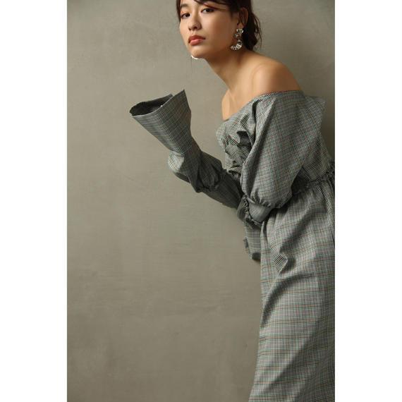 Shirring Off Shoulder Corset Dress (ds101)