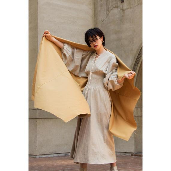"【""little $uzie"" Original】Lace Up Balloon Sleeves Shearing Dress (ls011)"