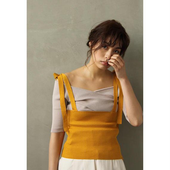 "Mustard ""Haramaki"" Strap Bustier(tp239)"