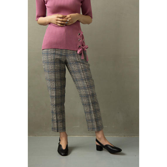 Jacquard Grid Sabrina Pants (bt175)