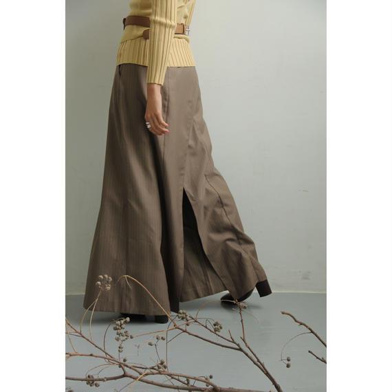 Pin Stripe Wing Back Pants (Black/Beige)(bt193)