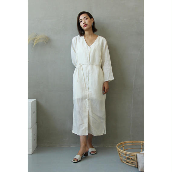 Linen Gown One Piece (ds108)