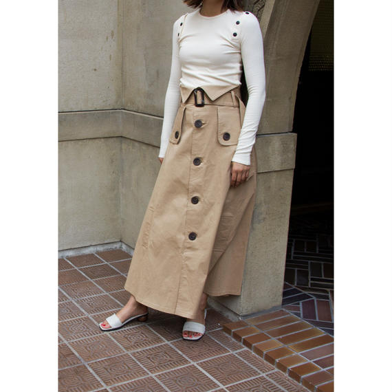 "【""little $uzie"" Original】Trench Design Military Long Skirt (ls001)"
