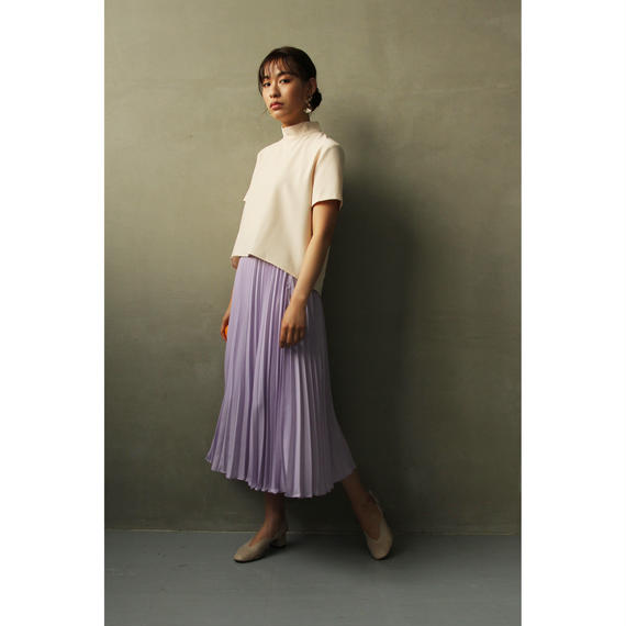 Purple Pleated skirt (bt174)