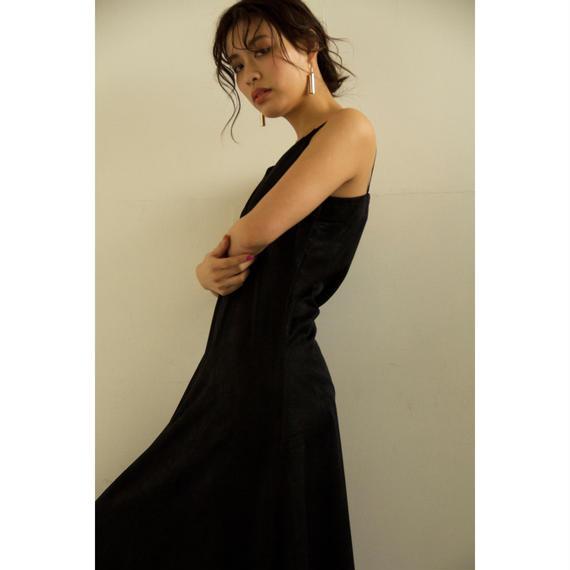 Silk Touch Satin Slip Dress (Beige/Black)(ds080)