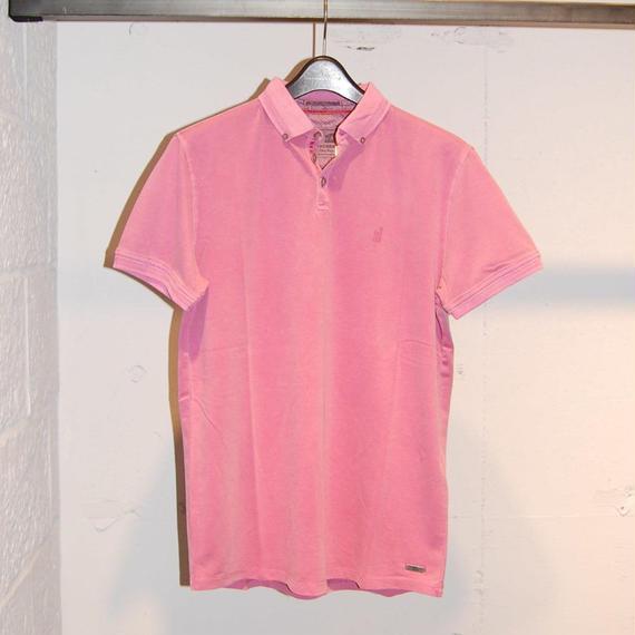 【NO EXCESS】無地カラーストレッチポロシャツ ピンク
