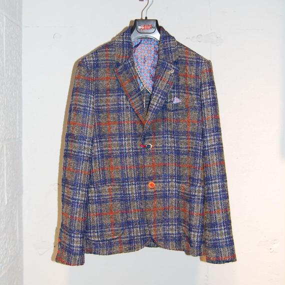【BOB】ウール・アルパカ混テーラードジャケット グレーチェック