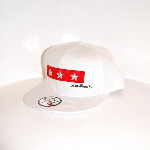 【StarLean】スリースター ベースボールキャップ ホワイト