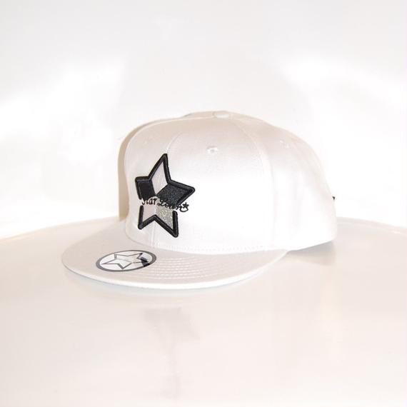 【StarLean】5パーツ ベースボールキャップ ホワイト