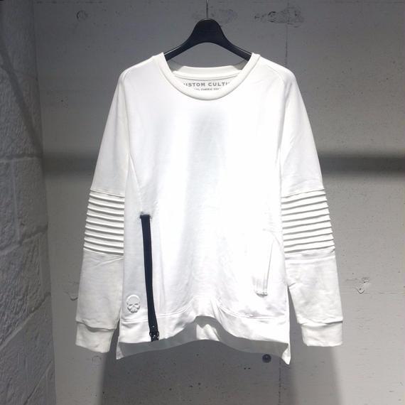 【Custom Culture】バイカースウェットプルオーバー ホワイト