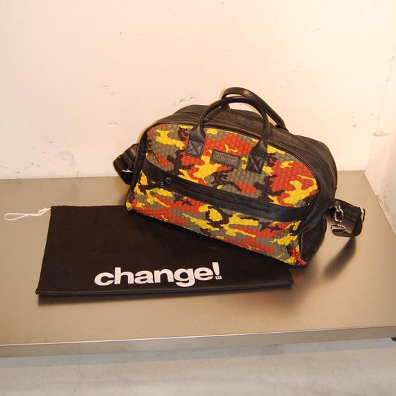 【Change!】ボストンバッグ カーキ系