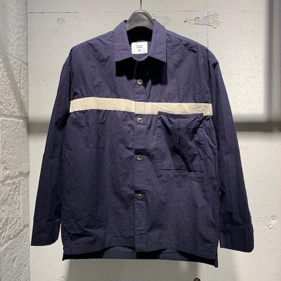 【291295=HOMME】コットンダンプ オーバーシャツ ネイビー