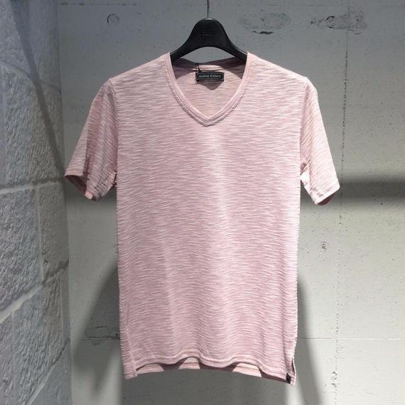 【Custom Culture】ランダムリップルTシャツ ピンク