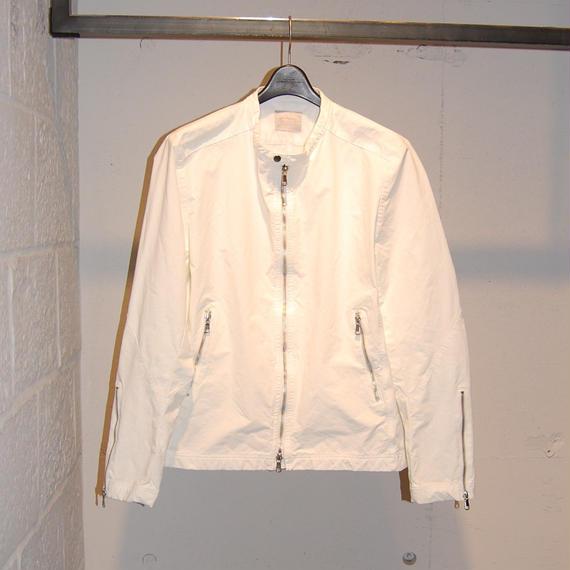 【N.MASAKI COLORS】ライダースジャケット ホワイト
