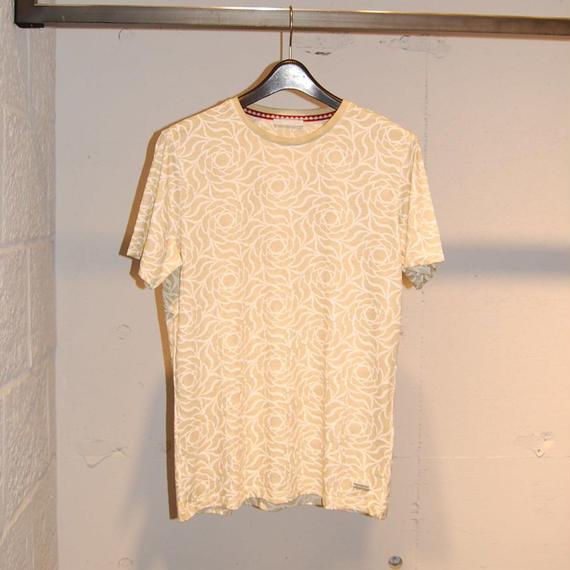 【SSEINSE】フラワー総柄Tシャツ ベージュ