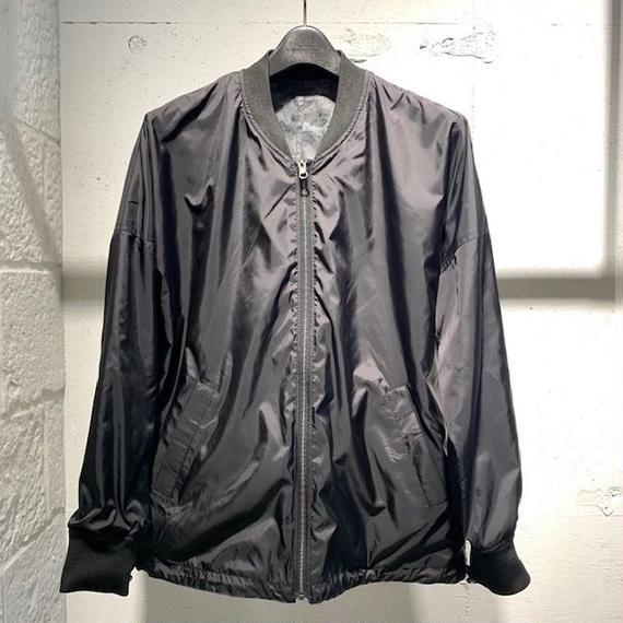 【Custom Culture】リバーシブルMA-1 ブラック×ブラック系カモフラージュ