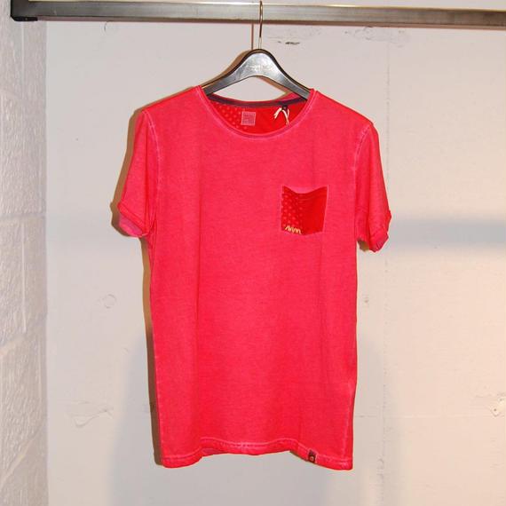 【BACI&ABBRACCI】ドットポケットTシャツ レッド