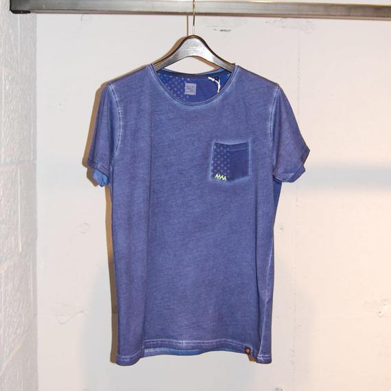【BACI&ABBRACCI】ドットポケットTシャツ ブルー